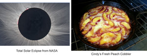Solar Eclipse and Peach Cobbler