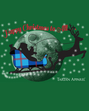 Tartan Apparel Happy Christmas T-Shirt in Green