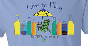 Tartan Apparel Live to Play T-Shirt in Carolina Blue