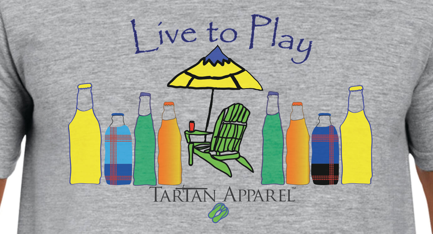 Tartan Apparel Live to Play T-Shirt in Gray