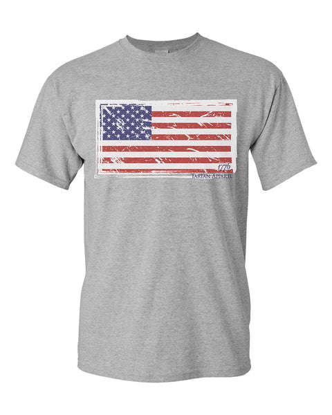 Tartan Apparel Old Glory Flag T-Shirt in Gray