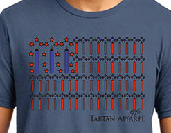Tartan Apparel Patriot T-Shirt in Lake Blue