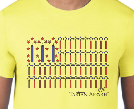 Tartan Apparel Patriot T-Shirt in Bright Yellow