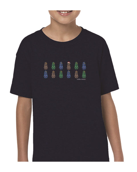 Tartan Apparel Camosnow Kids T-Shirt In Navy - S / Navy - T-Shirt