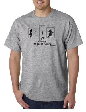 Tartan Apparel Highland Games Throw Heavy T-Shirt In Ash - S / Ash - T-Shirt