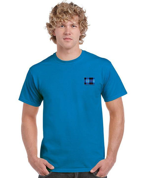 Tartan Apparel Key T-Shirt In Sapphire - T-Shirt