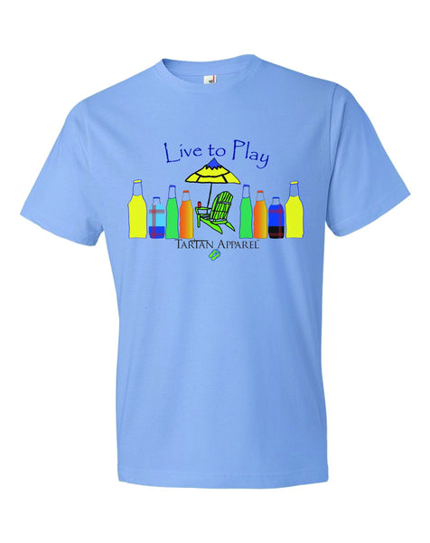 Tartan Apparel Live To Play T-Shirt In Carolina Blue - S / Caroline Blue - T-Shirt