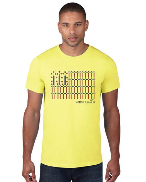 Tartan Apparel Patriot T-Shirt In Bright Yellow - M / Bright Yellow - T-Shirt