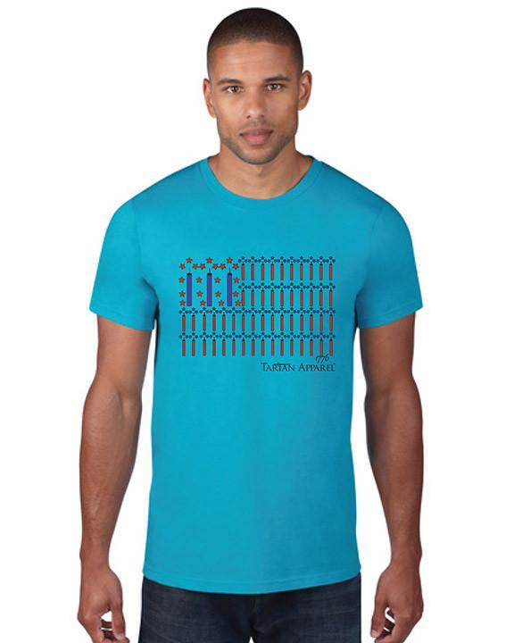 Tartan Apparel Patriot T-Shirt In Caribbean Blue - S / Caribbean Blue - T-Shirt