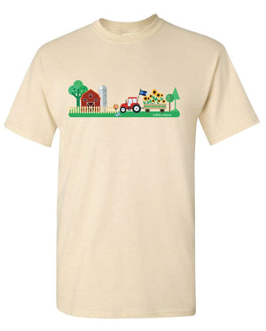Tartan Apparel Ts Tractor Design In Buff (Youth Sizes) - Xs - T-Shirt