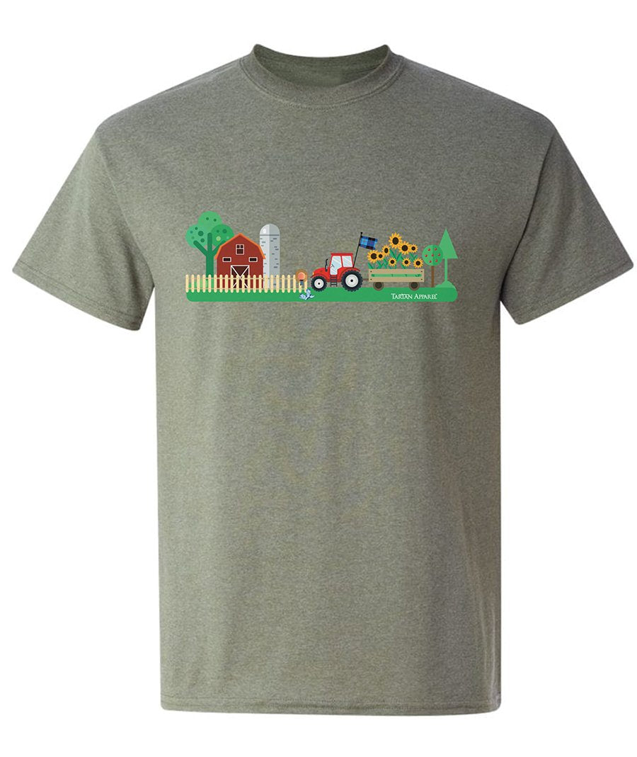 Tartan Apparel Ts Tractor Design In Earl Grey (Toddler Sizes) - 2T - T-Shirt