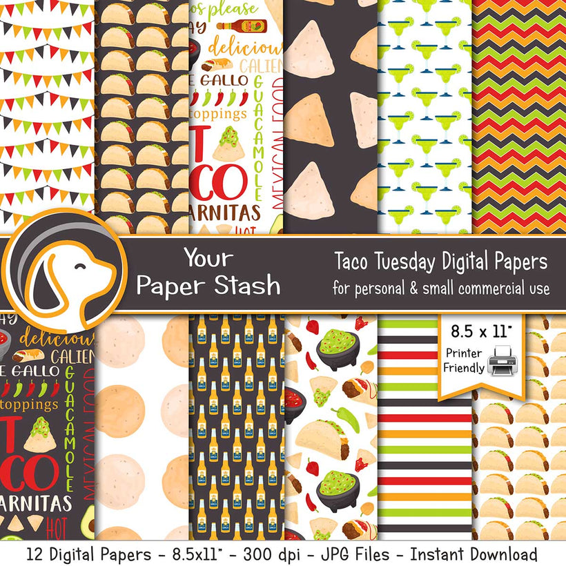 "Shop 8.5x11"" Digital Papers"