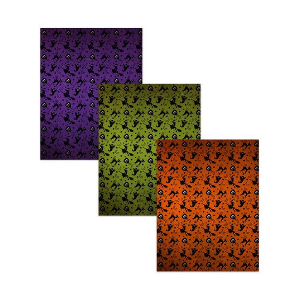 "8.5x11"" Printable Halloween Digital Paper Pack with Textured Finish"
