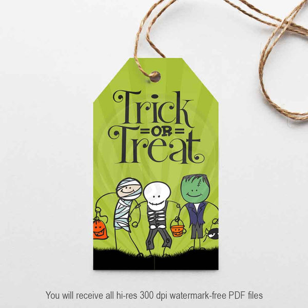 halloween party trick trunk or treat kids gift tags party decorations treat bag toppers