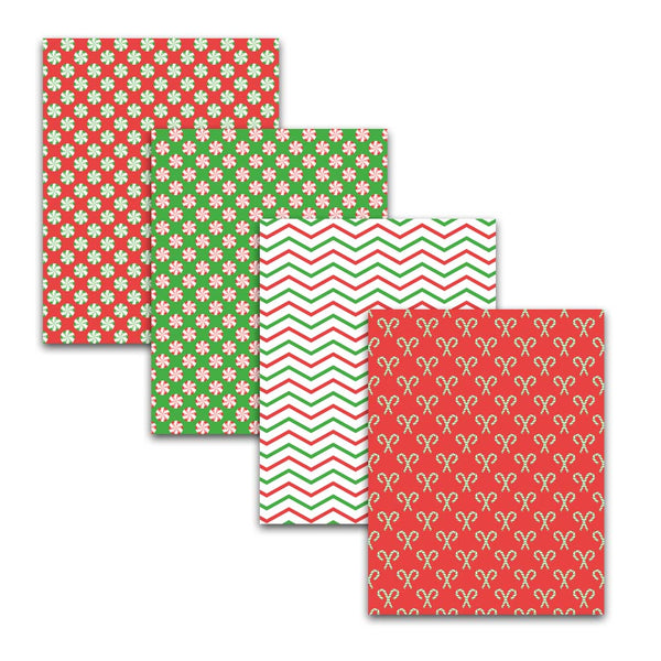 "8.5x11"" Christmas Candy Digital Papers & Backgrounds"
