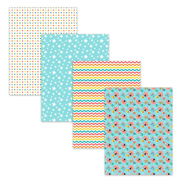 star polka dot chevron big top digital scrapbook paper