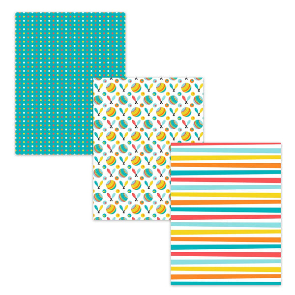 polka dot stripe kids paper craft supplies