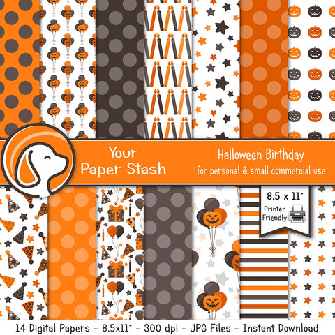 halloween party digital scrapbook paper