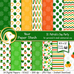 printable st patricks day digital paper