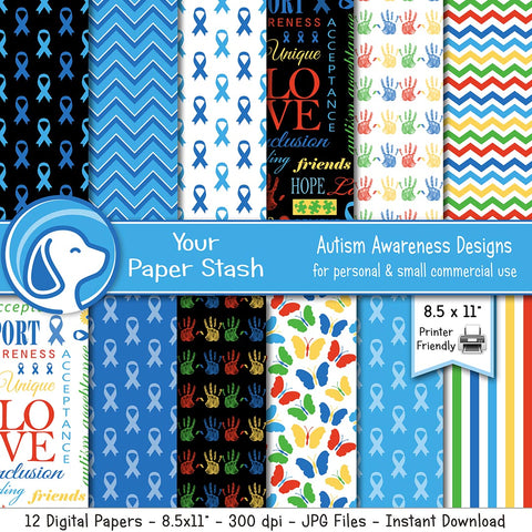 autism awareness month autist special needs school backgrounds rainbow blue ribbon