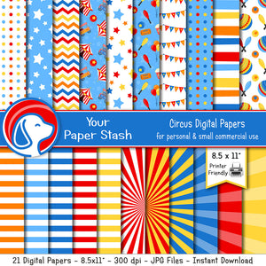 circus carnival classroom scrapbook paper backgrounds
