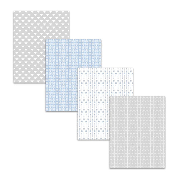 8.5x11 Ash Gray Light Blue Arrow Digital Scrapbook Papers and Backgrounds
