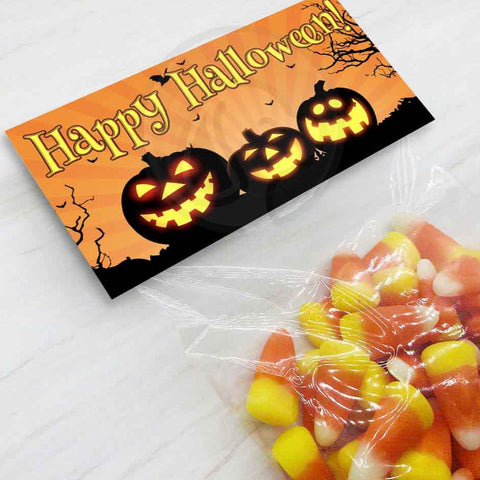 happy halloween printable treat bag toppers favor candy goody bags trick trunk treats