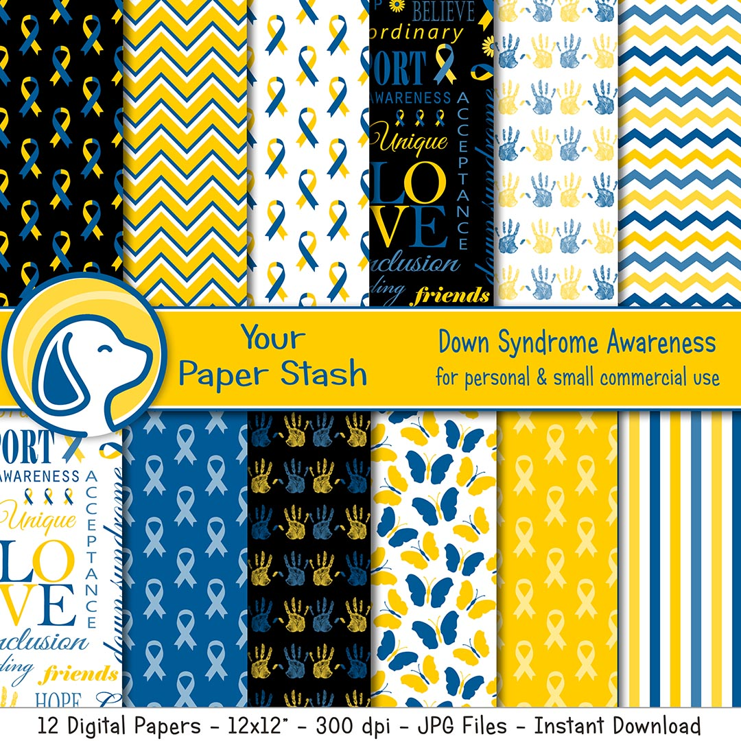 down syndrome special needs education educational digital paper backgrounds prints