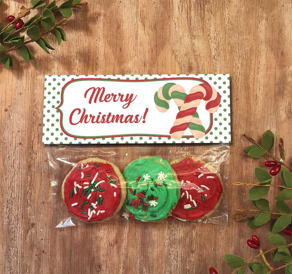 christmas cookie bag topper