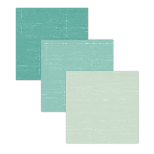 Coastal Blue & Green Textured Digital Scrapobok Paper Pack