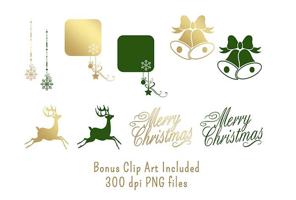 gold christmas clip art