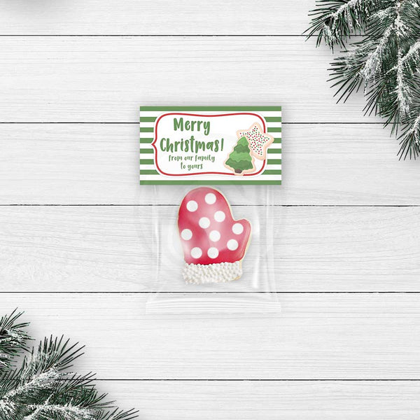 christmas cookie bags bag topper diy christmas ideas printables favor bags party xmas your paper stash yourpaperstash