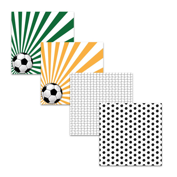 soccer ball football digital paper pack