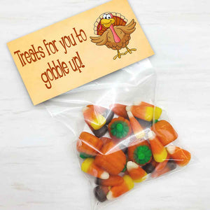 thanksgiving turkey toes printable treat and candy bag topers