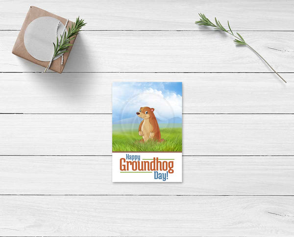 Groundhog Day Printable Cookie Card / Note Card