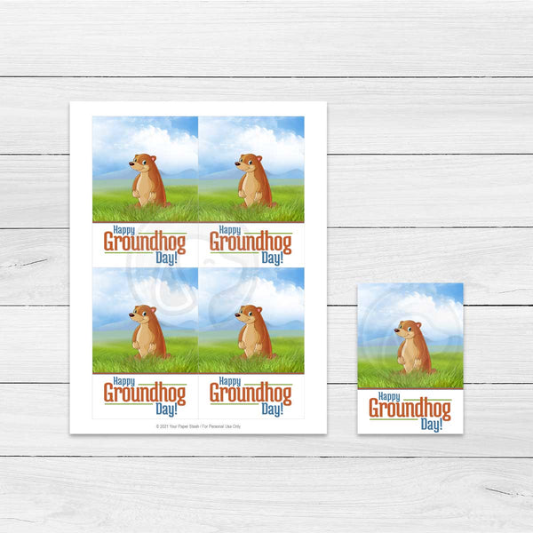 printable groundhog day cookie cards large gift tag mini cookie cards baking supply supplies