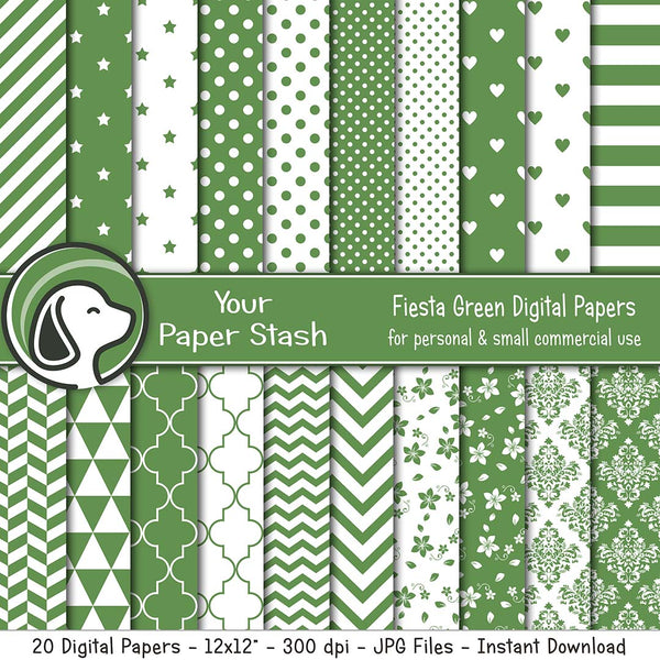 green Geometric Paper with Printable Paisley Patterns Olive Green Scrapbook Papers Green Olive Polka Dot Digital Paper