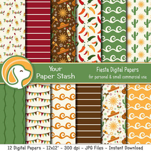 fiesta digital scrapbook papers mexico vacation
