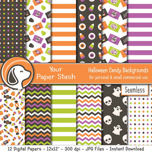Shop 12x12 Digital Papers Tagged Kids Halloween Your Paper Stash