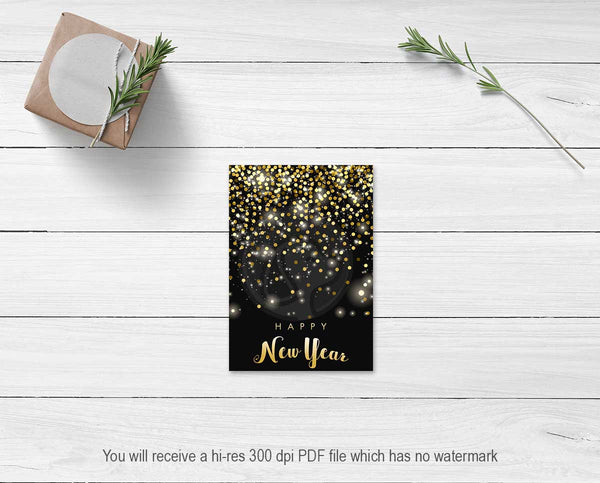 printable new years eve cookie cards large tags note cards