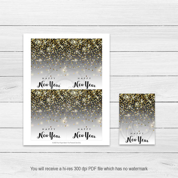 printable christmas holiday new year eve cookie cards large gift tags note cards