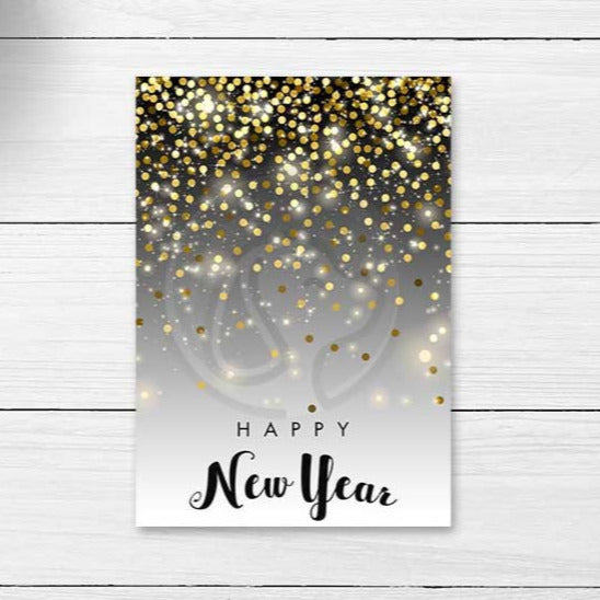 new year's eve printable cookie cards large gift tags gold glitter sparkly party decorations decor note cards idieas supplies supply