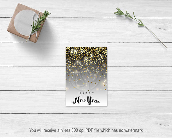 printable cookie cards for new year's eve parties party supplies diy decor