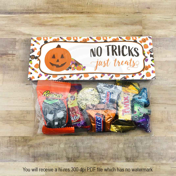 halloween pumpkin treat candy goody bag toppers hallowen party favors