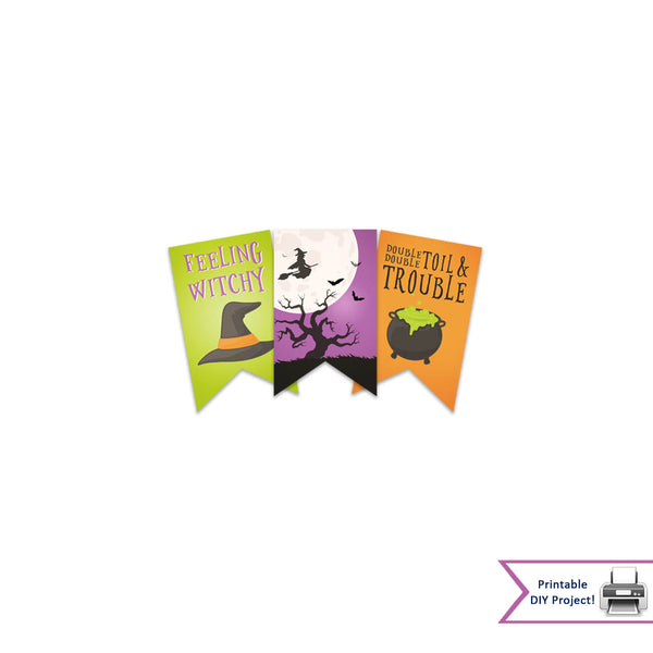 Printable Halloween Wtich Gift Tags-Double Toil Trouble-Feeling Witchy
