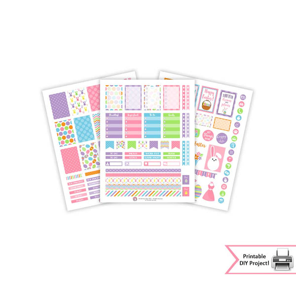 printable spring easter planner sticker printable