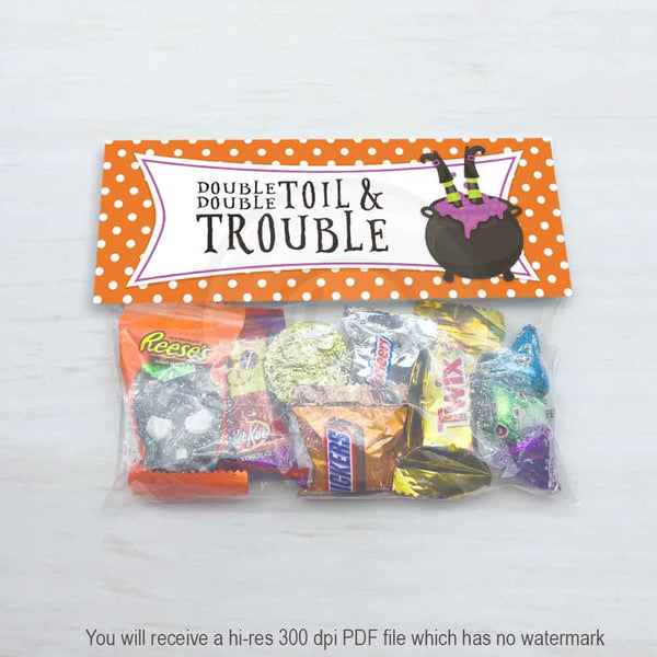 halloween candy bag toppers kids party favor decorations feeling witchy