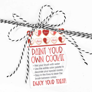 valentines valentine paint your own cookie card tag pirntables bag topper kids craft ideas teachers mom dad life crafty cute ideas your paper stash
