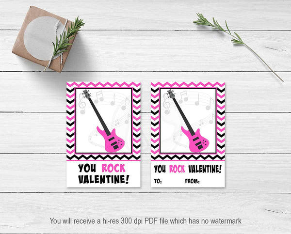 you rock valentine printable valentine's day card cookie cards baking supplies party favor bag topper