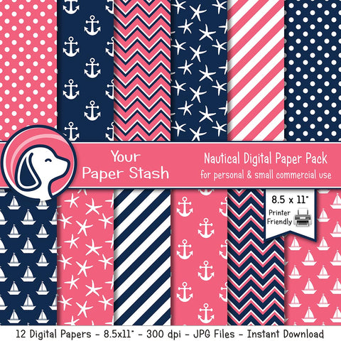 nautical digital scrapbook paper backgrounds baby shower